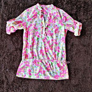 Lilly Pulitzer rare neon flamingo print tunic top